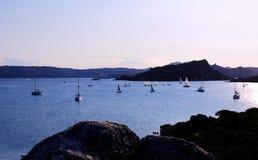De boten van de zonsondergang royalty-vrije stock foto's