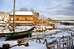 De boten van het zeil bij hoogtijd Stock Foto's