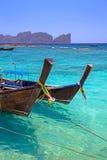 De boten van Longtail Royalty-vrije Stock Afbeeldingen
