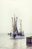 De boten van Noordzeegarnalen Royalty-vrije Stock Fotografie
