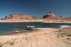 De boten van Powell van het meer Stock Afbeelding