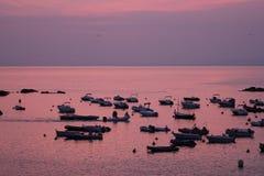 De boten van Tossa de Mar stock afbeeldingen