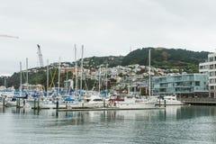 De boten van Wellington, Nieuw Zeeland stock foto's