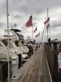 De botenvlaggen van Cambridge Maryland royalty-vrije stock afbeeldingen