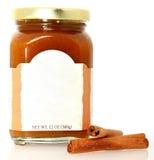 De Boter van de pompoen die met Leeg Etiket wordt uitgespreid stock afbeelding