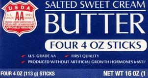 De boter zoutte de zoete zuivelfabriek van het roomusda voedsel stock foto