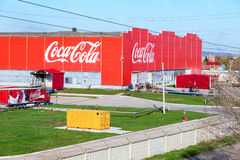 De bottelarij van Coca-Cola in Samara, Rusland Royalty-vrije Stock Fotografie
