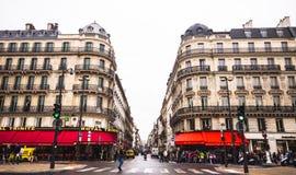 De boulevard Haussmann Stock Foto's