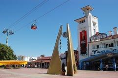 De boulevard in Mamaia. royalty-vrije stock foto