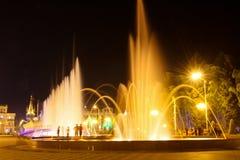 De Boulevard van Batumi van de nacht in Batum, Georgië Royalty-vrije Stock Foto's