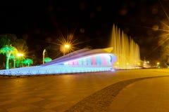De Boulevard van Batumi van de nacht in Batum, Georgië Stock Fotografie