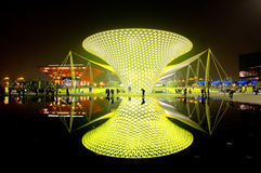 De boulevard van Expo bij Wereld Expo in Shanghai Stock Foto