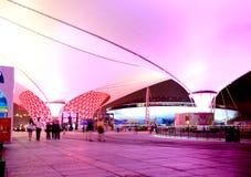 De boulevard van Expo bij Wereld Expo in Shanghai Stock Foto's