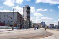 De Boulevard van Havana - Malecon- Stock Afbeelding