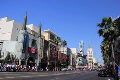 De boulevard van Hollywood Stock Foto