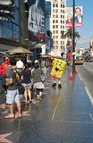 De Boulevard van Hollywood in Hollywood, Californië stock foto