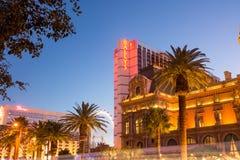 De Boulevard van Las Vegas van het Ballyshotel Stock Foto