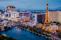 De boulevard van Vegas van Las royalty-vrije stock foto's