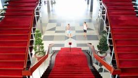 De bourdonnement palais de l'indépendance - domaine principal de lobby - - Ho Chi Minh City banque de vidéos
