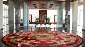 De bourdonnement palais de l'indépendance - région de lobby - - Ho Chi Minh City (Saigon) Vietnam banque de vidéos