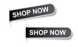 De boutique autocollants maintenant Image stock