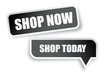 De boutique autocollants maintenant Photo stock