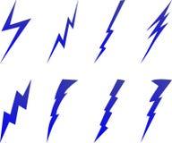 De boutsymbolen van de bliksem Stock Afbeelding