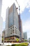 De bouw in aanbouw in Brickell Stock Afbeeldingen
