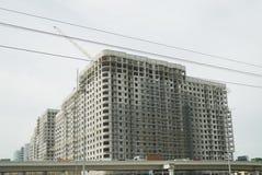 De bouw in aanbouw met meerdere verdiepingen Royalty-vrije Stock Foto