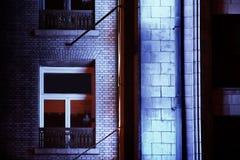 De bouw bij nacht Royalty-vrije Stock Afbeelding