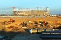 De bouw, bouw, ontwerp, Stadion, rechte stralen, de bouw, complexe sport royalty-vrije stock afbeelding