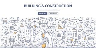 De bouw & Bouwkrabbelconcept royalty-vrije illustratie