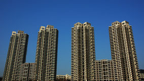 De bouw in Chongqing royalty-vrije stock fotografie