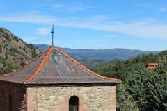 De bouw in de bergen Stock Foto's