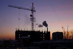 De bouw. De verandering van de ochtend Royalty-vrije Stock Afbeelding