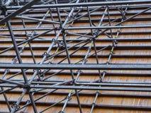 De bouw en de balken van het staalkader royalty-vrije stock afbeeldingen