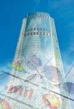 De bouw en blauwdrukken, bedrijfscollage Royalty-vrije Stock Foto's