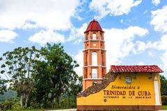 De Bouw en de Architectuur van Unesco Cuba in Trinidad 10 Stock Fotografie