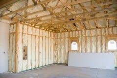 De bouw en de isolatie van het huis Stock Fotografie