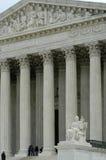 De Bouw en de kolommen van het Hooggerechtshof stock afbeeldingen