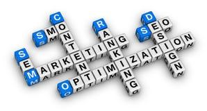 De bouw en de marketing van de website Royalty-vrije Stock Afbeelding