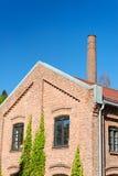 De Bouw en de Schoorsteen van de fabriek Royalty-vrije Stock Afbeelding