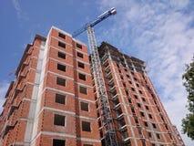 De bouw en kraan Stock Afbeelding