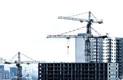 De bouw en kraan Royalty-vrije Stock Foto