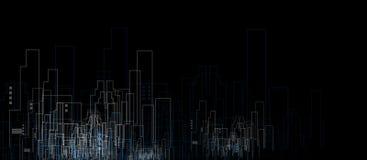 De bouw en onroerende goederen stadsillustratie abstracte achtergrond royalty-vrije illustratie