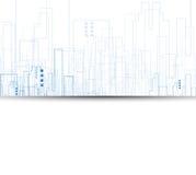 De bouw en onroerende goederen stadsillustratie abstracte achtergrond vector illustratie