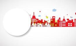 De bouw en onroerende goederen stadsillustratie abstracte achtergrond stock illustratie