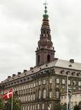 De bouw en toren in historisch centrum van Copenha Stock Afbeeldingen