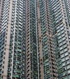De bouw en vensterspatroon in Hongkong royalty-vrije stock afbeelding