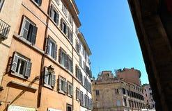 De bouw façades in Rome Stock Afbeeldingen